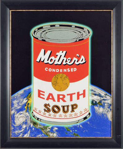 Mother's Condensed Earth Soup Charles Bragg (1931-2017) Fine Art Canvas Giclee Print Artist Hand Signed Numbered and Framed