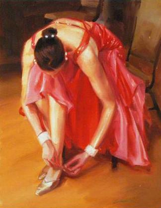 Thinking Pink Carrie Graber Canvas Giclee Print Artist Hand Signed and Numbered