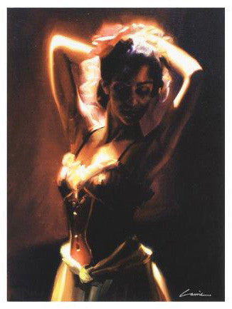 Bordeaux Glow Carrie Graber Canvas Giclee Print Artist Signed and Numbered