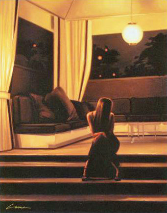 Cabana Lights Carrie Graber Canvas Giclee Artist Hand Signed and Numbered