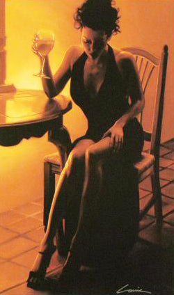 Elegant Lady in Black Carrie Graber Canvas Print Artist Hand Signed and Numbered