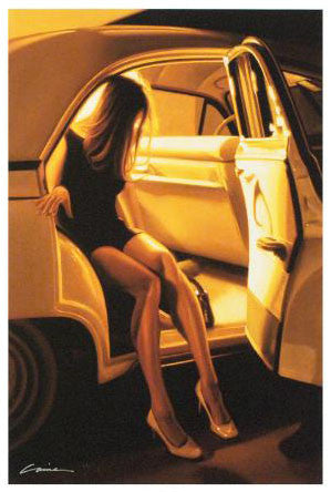 A Night in Old Town Carrie Graber Fine Art Canvas Giclee Print Artist Hand Signed and Numbered