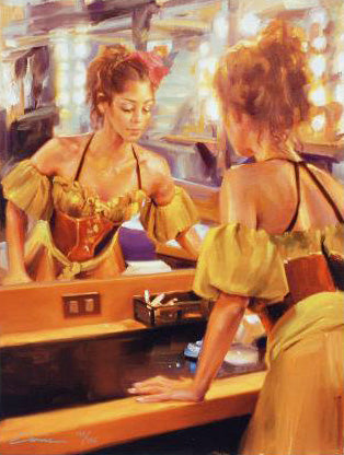 Backstage Carrie Graber Canvas Giclee Print Artist Hand Signed and Numbered