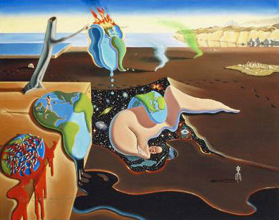 The Persistence of Man Charles Lynn Bragg Canvas Giclee Print Artist Hand Signed and Numbered