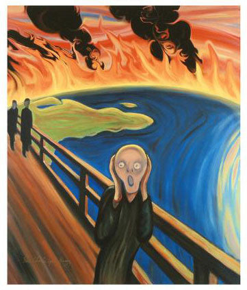 Earth Scream Charles Lynn Bragg Fine Art Canvas Giclee Print Artist Hand Signed and Numbered