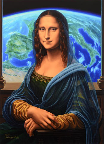 Mona Lisa Charles Lynn Bragg Fine Art Gallery Proof Canvas Giclee Print Artist Hand Signed and GP Numbered
