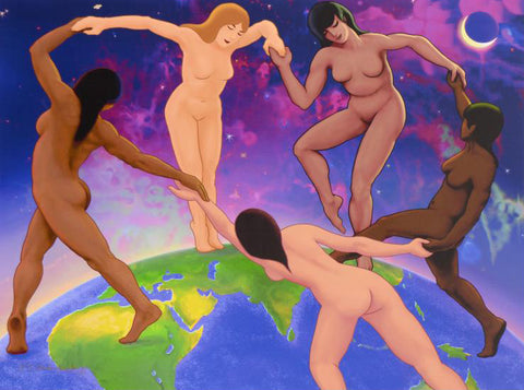 Earth Dance Charles Lynn Bragg Fine Art Canvas Printer Proof Giclee Print Artist Hand Signed and PP Numbered