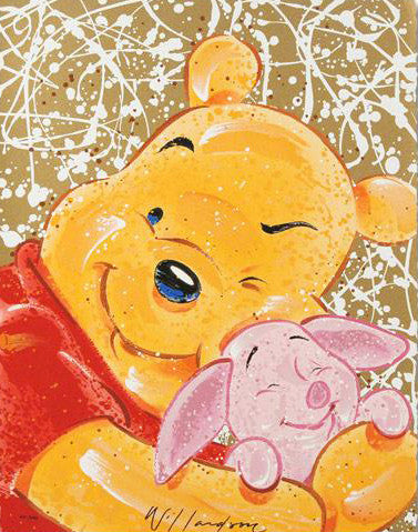 Very Important Piglet David Willardson Serigraph Print Artist Hand Signed and Numbered