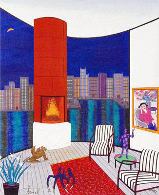 Interior with Brazilin Fanch Ledan Canvas Giclee Print Artist Hand Signed and Numbered