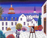 Terrace on Pantheon Fanch Ledan Canvas Giclee Print Artist Hand Signed and Numbered