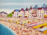 La Plage de la Baule Fanch Ledan Artist Proof Lithograph Print Hand Signed and AP Numbered