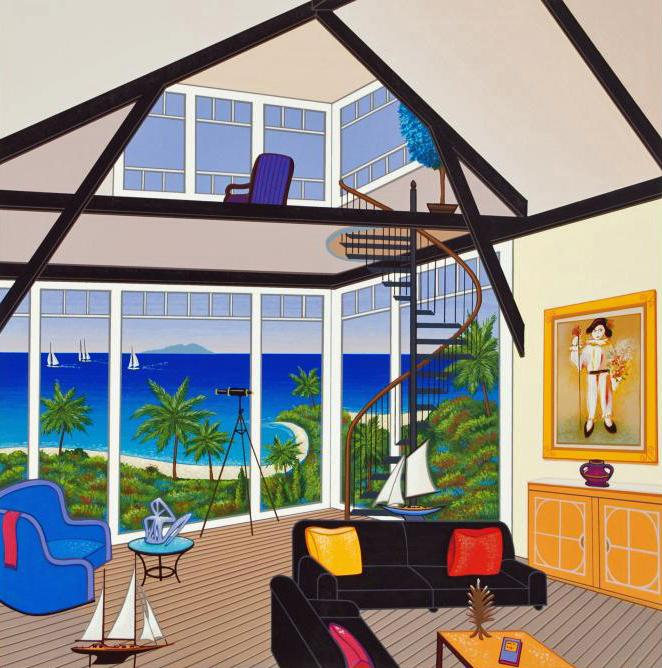 FANCH LEDAN SERIGRAPH Interior with Three Matisse Seriolithograph Certificate