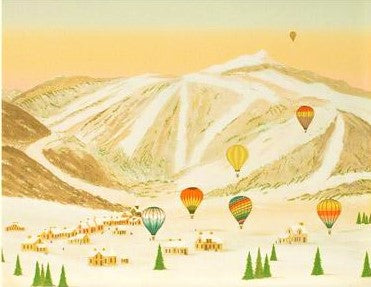Ballooning in the Rockies Fanch Ledan Artist Proof Lithograph Print Artist Hand Signed and AP Numbered