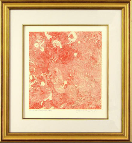 Le Cirque Burnt Scarlet Guillaume Azoulay Fine Art Etching Artist Hand Signed and Numbered