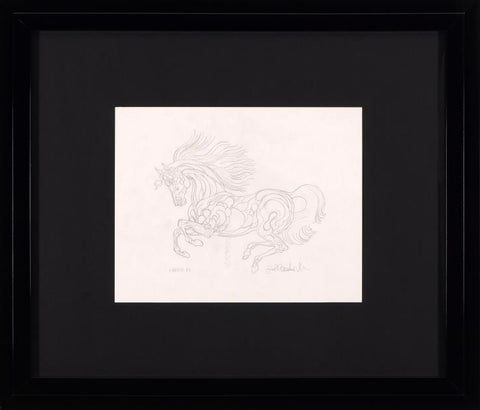 BL Sketch Guillaume Azoulay Original Pencil Drawing Artist Hand Signed and Framed