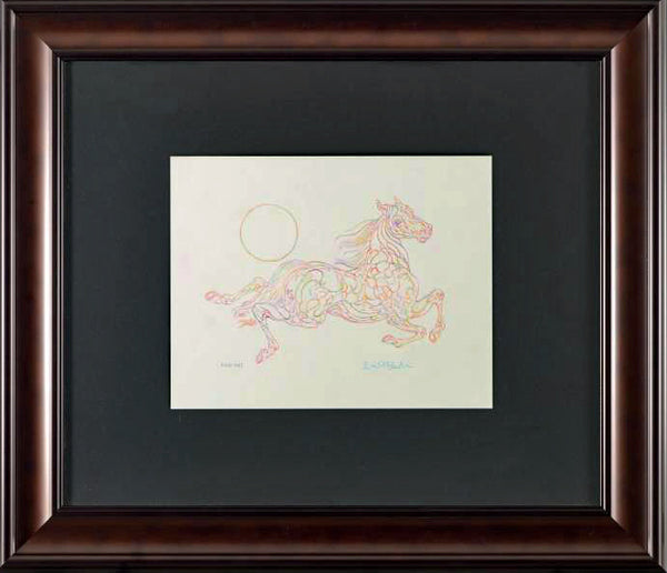 Essai AHI Guillaume Azoulay Original Color Pencil Drawing Artist Hand Signed and Framed