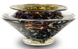 Ikebana Flower Bowl GartnerBlade Hand Blown Glass Sculpture Artists Stephen Gatner and Danielle Blade Hand Signed