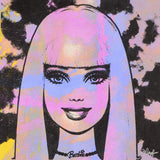 Barbie Gail Rodgers Acrylic Silkscreen Painting on Canvas Artist Hand Signed