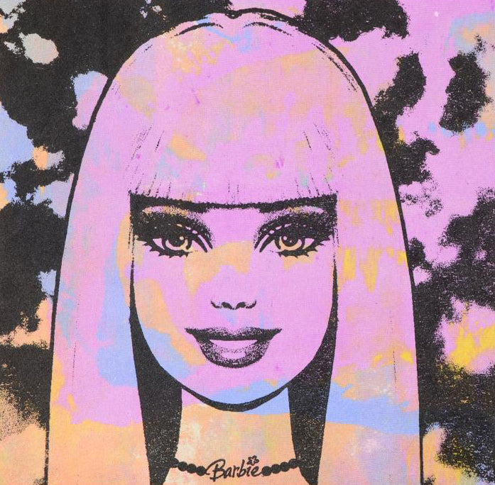 barbie gail rodgers acrylic silkscreen canvas painting artist signed