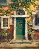 Green Door in Naples James Coleman Fine Art Gallery Proof Canvas Giclee Print Artist Hand Signed GP Numbered and Framed