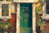 Green Door in Naples James Coleman Gallery Proof Canvas Giclee Print Artist Hand Signed GP Numbered and Framed