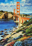 I Left My Heart Howard Behrens Hand Embellished Canvas Giclee Print Numbered with Artist Authorized Signature