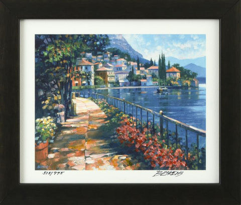 Sunlit Stroll Hand Embellished Fine Art Giclee Print Artist Howard Behrens Hand Signed Numbered and Framed