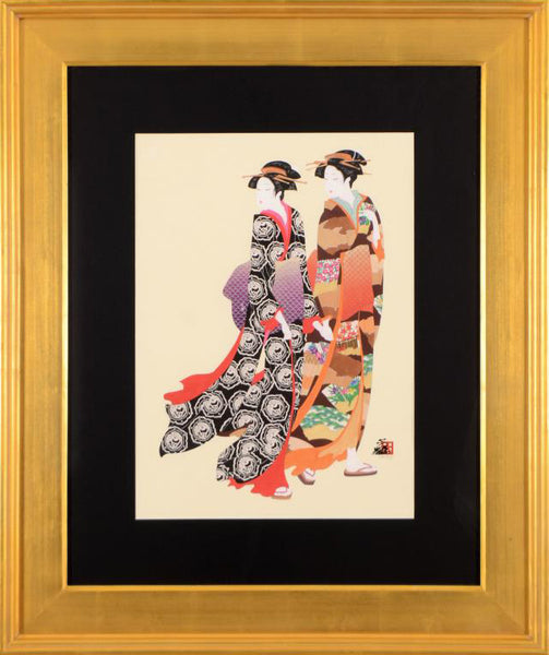 Ukiyo e Sisters Hisashi Otsuka Fine Art Printers Proof Lithograph Print Artist Hand Signed and PP Numbered