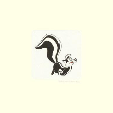 Pepe Le Pew Warner Bros Looney Tunes Hand Tinted Color Etching Numbered