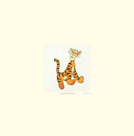 Tigger Disney Studios Winnie the Pooh Etching with Hand Tinted Color Numbered