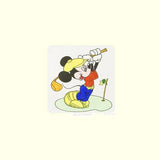 Disney Studios Mickey Mouse Golfing Hand Tinted Color Etching Numbered