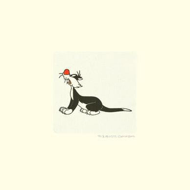 Sylvester the Cat Warner Bros Hand Tinted Color Etching Numbered