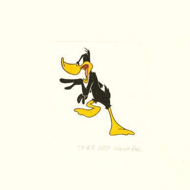 Daffy Duck Warner Bros Hand Tinted Color Etching Numbered