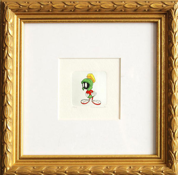 Marvin the Martian Warner Bros Hand Tinted Color Etching Numbered and Framed