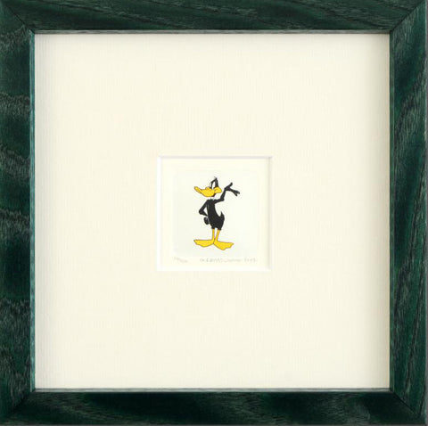 Warner Bros Looney Tunes Hand Tinted Color Etching Daffy Duck Numbered