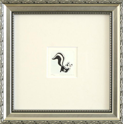 Pepe Le Pew Warner Bros Looney Tunes Hand Tinted Color Etching Numbered Framed