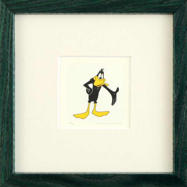Daffy Duck Warner Bros Hand Tinted Color Etching Numbered Custom Framed