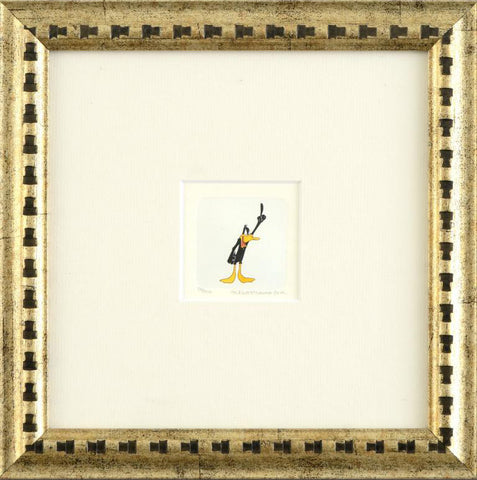 Warner Bros Hand Tinted Coloring Etching Daffy Duck Numbered Framed