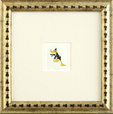 Daffy Duck Warner Bros Hand Tinted Coloring Etching Numbered Framed