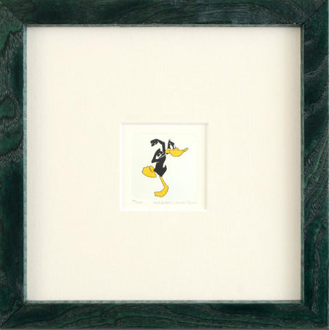 Daffy Duck Warner Bros Hand Tinted Color Etching Numbered Framed