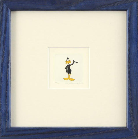 Daffy Duck Warner Bros Hand Tinted Color Etching Numbered and Framed