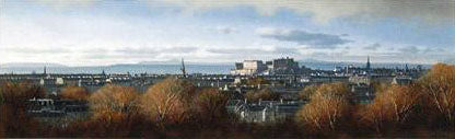 Edinburgh from the Braids Ian Johnstone Giclee Print Artist Hand Signed and Numbered
