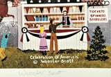 Celebration of America Jane Wooster Scott Artist Proof Lithograph Print Artist Hand Signed and AP Numbered