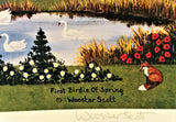 Jane Wooster Scott First Birdie of Spring Lithograph Print Artist Hand Signed and Numbered
