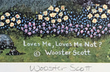 Loves Me Loves Me Not Jane Wooster Scott Lithograph Print Artist Hand Signed and Numbered