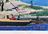 Salem Shipyard Jane Wooster Scott Lithograph Print Artist Hand Signed and Numbered