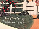 Swing Into Spring Jane Wooster Scott Artist Proof Offset Lithograph Print Artist Hand Signed and AP Numbered