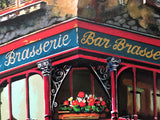 Bar Brasserie Anatoly Metlan Lithograph Print Artist Hand Signed and Numbered