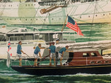 Tall Ships NY Harbor Harry Schaare Artist Proof Serigraph Print Artist Hand Signed and AP Numbered
