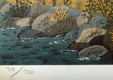 Sun Valley School Days Jane Wooster Scott Lithograph Print Artist Hand Signed and Numbered